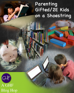 Homeschooling Gifted 2e Kids on a Shoestring Images: Kid reading, library, blocks kids on computers