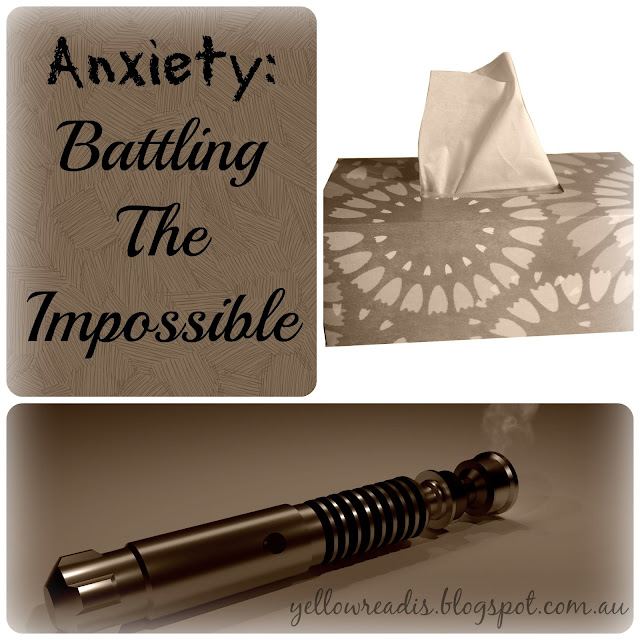 Anxiety: Battling the Impossible, yellowreadis.com. Image: Tissue box, Dr Who Sonic Screwdriver