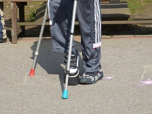 The Twice-Exceptional Child:Hidden in Plain Sight   Yellow Readis Picture: Child on crutches in park