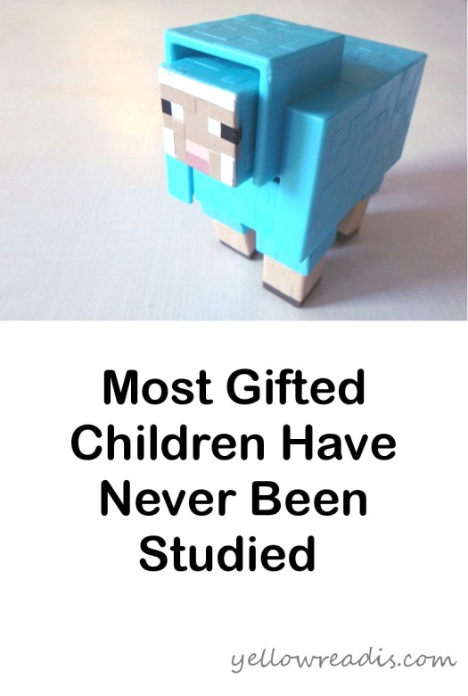 Most Gifted Children Have Never Been Studied | yellowreadis.com  Image: Blue toy sheep on white background.