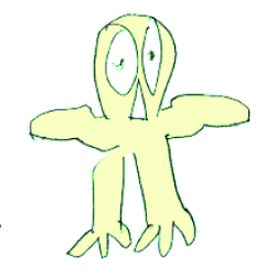 Image: yellow owl hand drawn