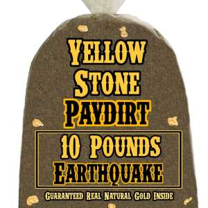 10 Pounds of EARTHQUAKE (Pickers and Nuggets!) Gold-Rich Unsearched Paydirt Concentrate from YELLOWSTONE PAYDIRT