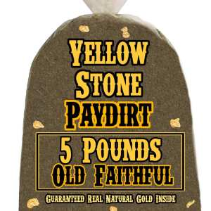 5 Pounds of OLD FAITHFUL (More Gold!) Gold-Rich Unsearched Paydirt Concentrate from YELLOWSTONE PAYDIRT