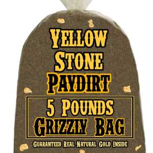5 Pounds of GRIZZLY BAG (Big Nuggets, Our Richest Pay!) Gold-Rich Unsearched Paydirt Concentrate from YELLOWSTONE PAYDIRT