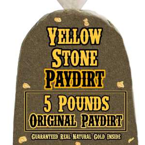 5 Pounds of ORIGINAL (Great Gold!) Gold-Rich Unsearched Paydirt Concentrate from YELLOWSTONE PAYDIRT