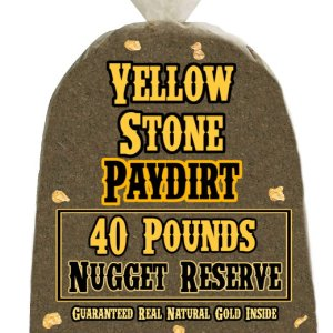 40 Pounds of NUGGET RESERVE (Nuggets!) Gold-Rich Unsearched Paydirt Concentrate from YELLOWSTONE PAYDIRT