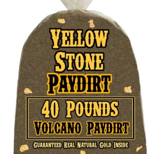 40 Pounds of VOLCANO (Pickers!) Gold-Rich Unsearched Paydirt Concentrate from YELLOWSTONE PAYDIRT