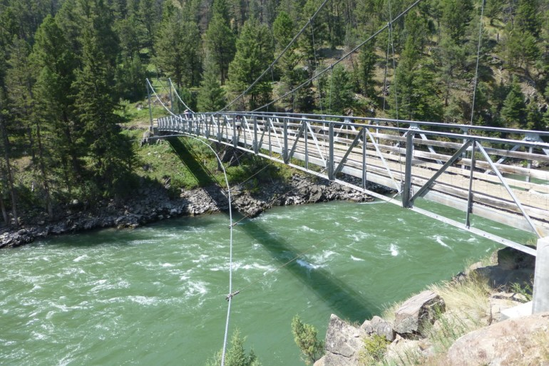 Bridge over yellowstone river