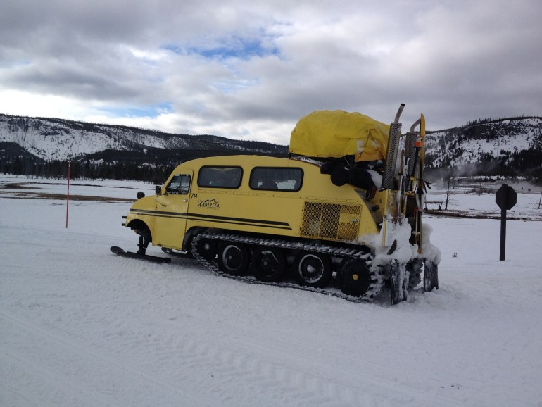 old Bombardier snowcoach
