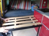 Frame extends and slats go down