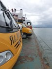 Front spot on this ferry from Guaratuba