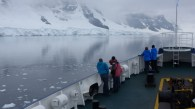 Enjoying the views as we sailed through the Neumayer Channel