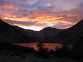 The sunset reflected in Laguna Negro