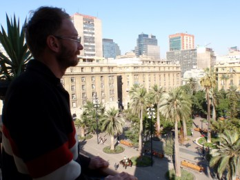 Looking out on the Plaza de Armas
