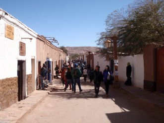 The old adobe town of San Pedro de Atacama