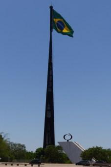 The obligatory enormous flag!