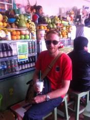 Where a favourite of ours was papaya con leche (papaya milk smoothie)