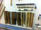 A lovely collection of Quenas in the musical instrument museum