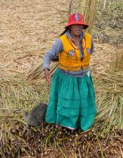 As are the colourful costumes - although many Andean women dress colourfully still