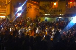 Later in the evening, the groups took turns to dance