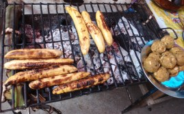 Plantains on the grill