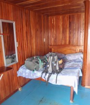 It was a funny little cabin, with a very uneven floor, but was comfortable enough despite the wonky bed. It had A/C, but mostly we preferred leaving the door open and the breeze from the boat moving was pleasant and enough to keep the mosquitos away.