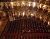 Inside the theatre - it's actually rather smaller than it appears from the outside!