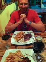 And an opportunity for a return visit to an Argentinian steak restaurant we had found on our way north a few weeks earlier - we find it hard to resist opportunities to re-experience good Argentinian steak...