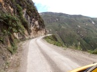 Until the cable car is built, it's quite a drive around the edge of the valley to climb up to the site