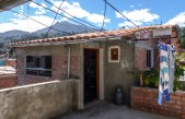 """Our little """"penthouse"""" rental apartment in a suburb of Huaraz near the garage didn't look too promising on the outside!"""