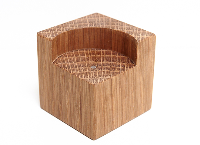 Wooden Tealight Holder Base Short