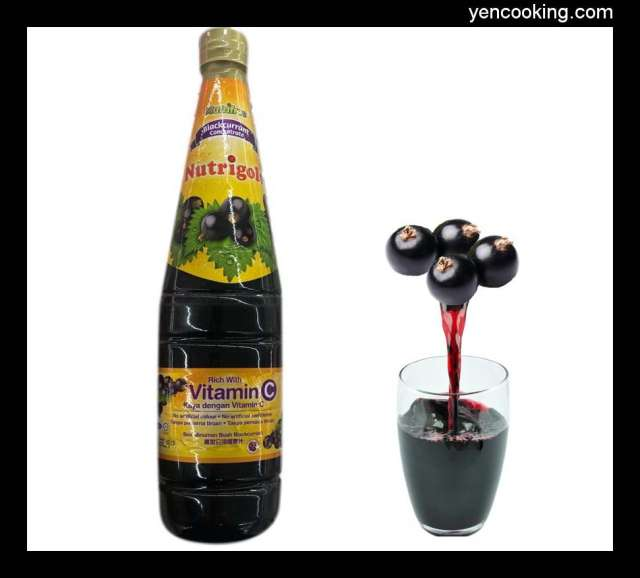 Malaysia Nutrigold Blackcurrant Grapes Fruit Juice Concentrate Refreshing Summer Vitamin C Healthy beverages 33floz