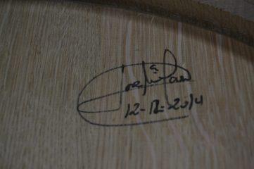 Fecha y firma del tonelero