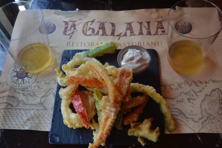 Tempura de verduras de La Galana