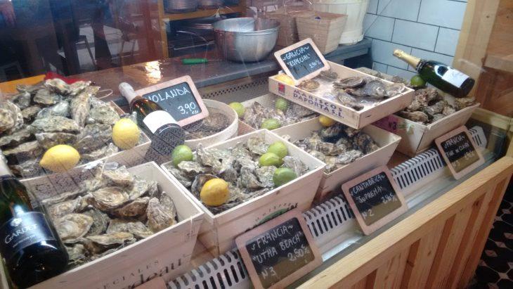 Expositor de ostras de El Puertito