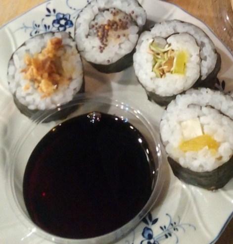 Sushi bio-vegetal