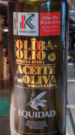 Botella de AOVE Equidad