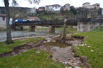 Crecida del Río Nela en Puentedey