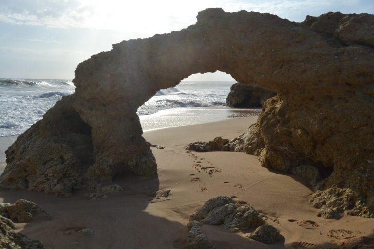 Arco en Praia Galé