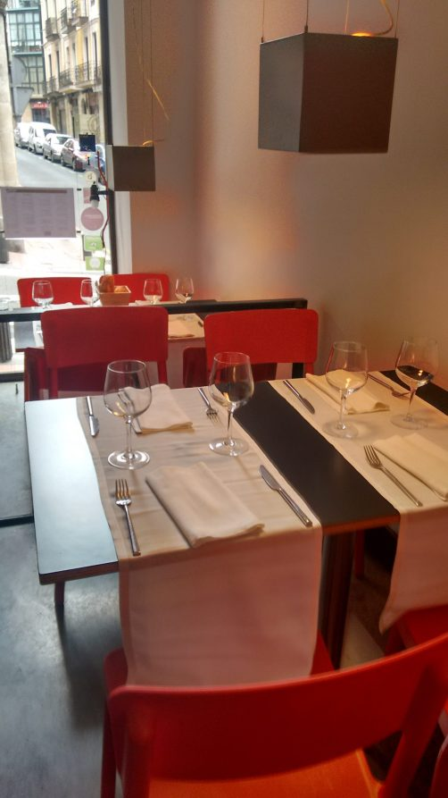 Comedor del Restaurante Ágape de Bilbao