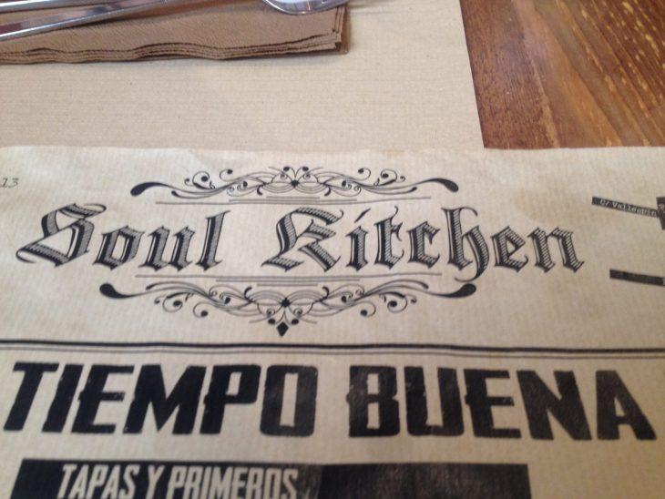 Carta del Soul Kitchen de Ávila