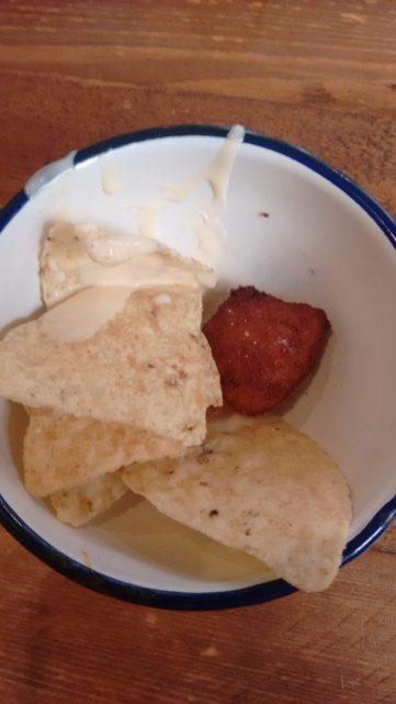 Tapa de Croqueta con nacho