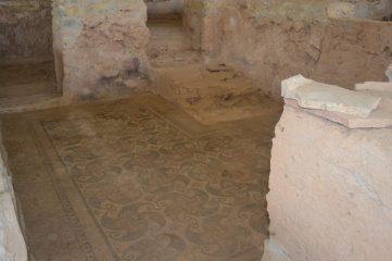 Estancia con mosaicos en los suelos de la domus romana