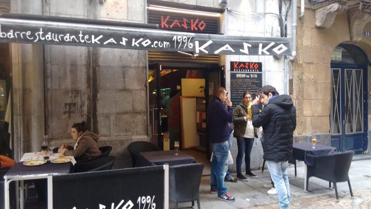 Menú del Restaurante Kasko de Bilbao