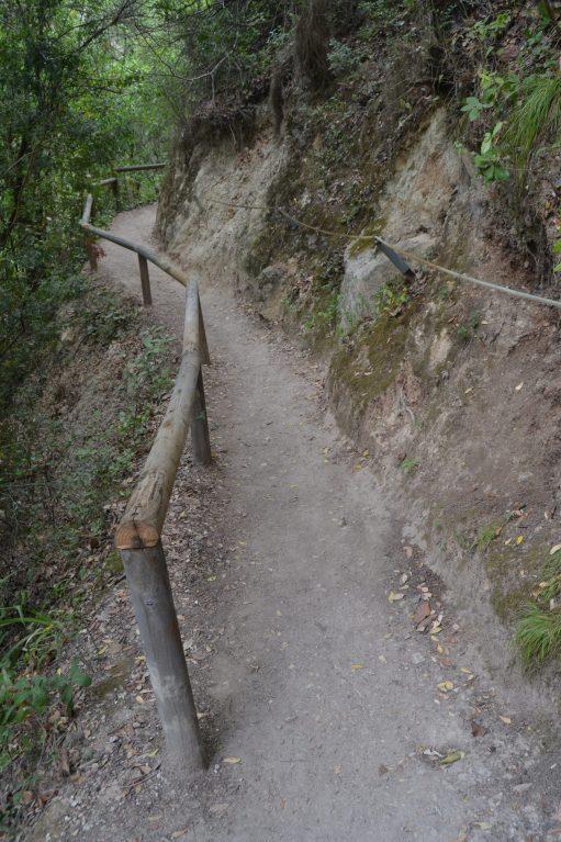 Sendero habilitado en una ladera