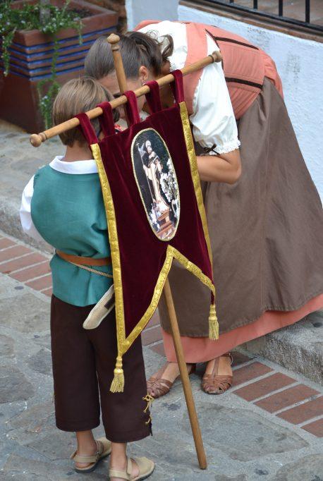 Vecinos de Benalauría vestidos de cristianos