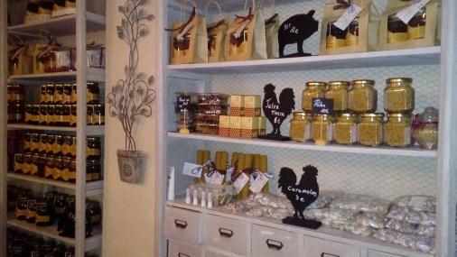 Detalle de la Tienda de Miel Picórea