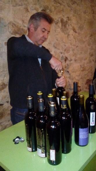 Manuel Mena en la Cata de vinos
