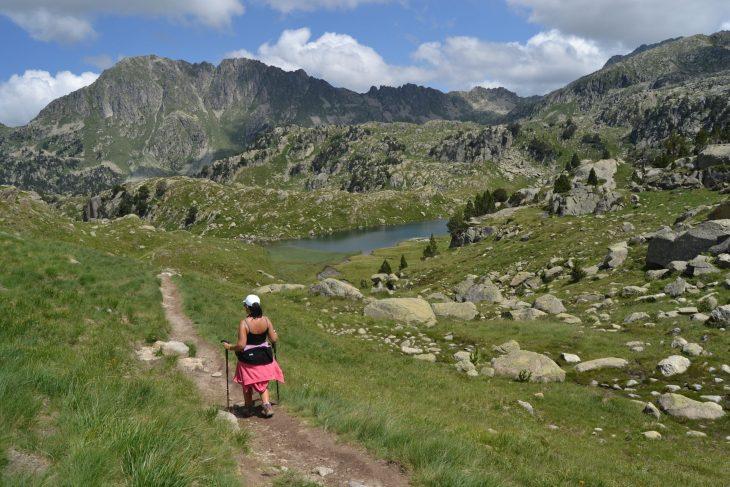 Camino hacia el Estanh des Garguilhs