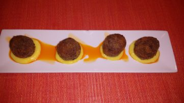 Tapa de Delicias de morcilla